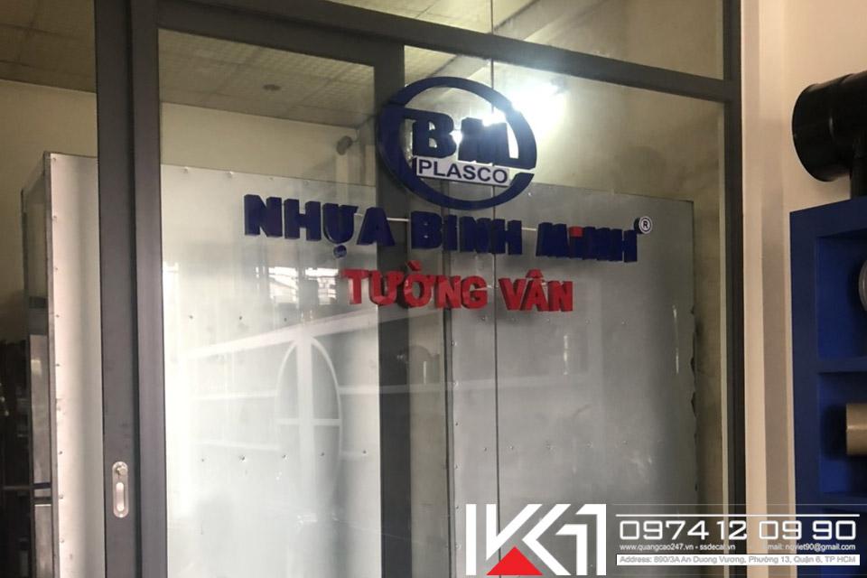 Gia Cong Chu Noi Co Den Led Nhua Binh Minh