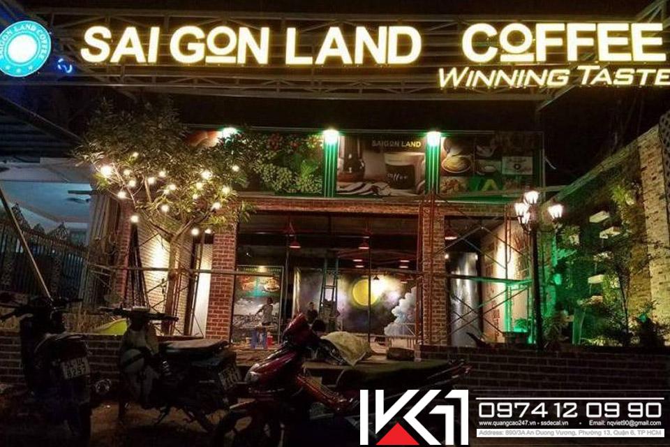 Mẫu bảng hiệu cà phê đẹp thu hút khách hàng
